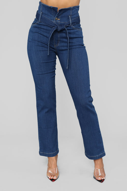 All I Need Straight Leg Jeans - Dark Denim