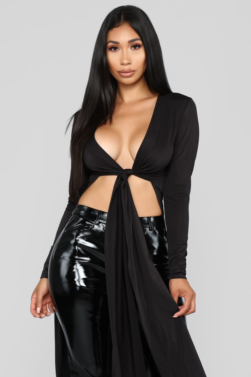You Want Me Top - Black