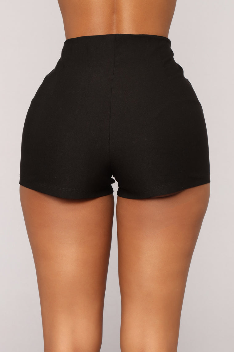 Starstruck Zip Shorts - Black