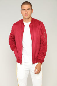 Ron Bomber Jacket - Burgundy