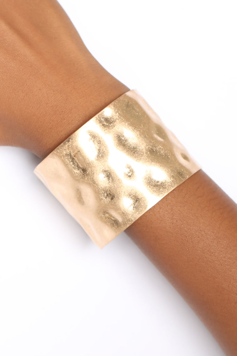Text Her Cuff - Gold