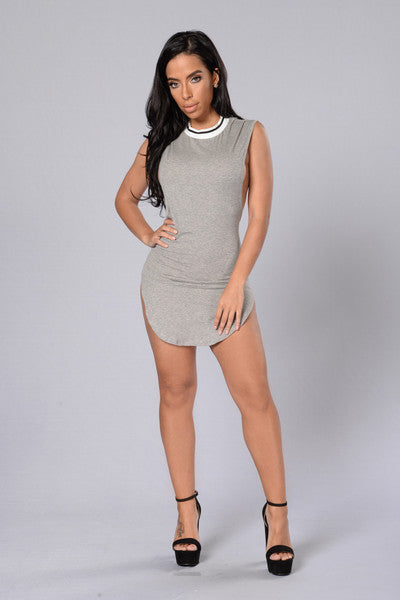 Sitting Courtside Tunic - Grey