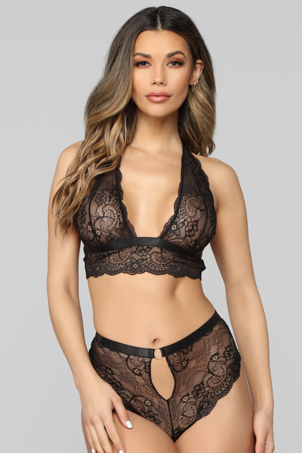 ba86e71c786f Sweet And Sultry Lace 2 PC Set - Black