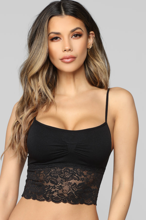 43f6eeed245 Lazy Laced 2 Pack Seamless Bralettes - Black Combo