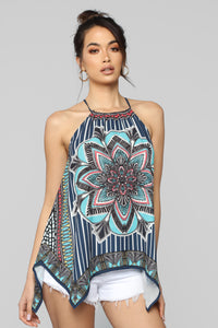 Your Kaleidoscope Dreams Top - Navy Angle 1