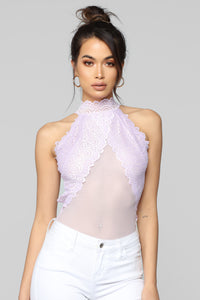Ruffle It Up Bodysuit - Lavender Angle 2