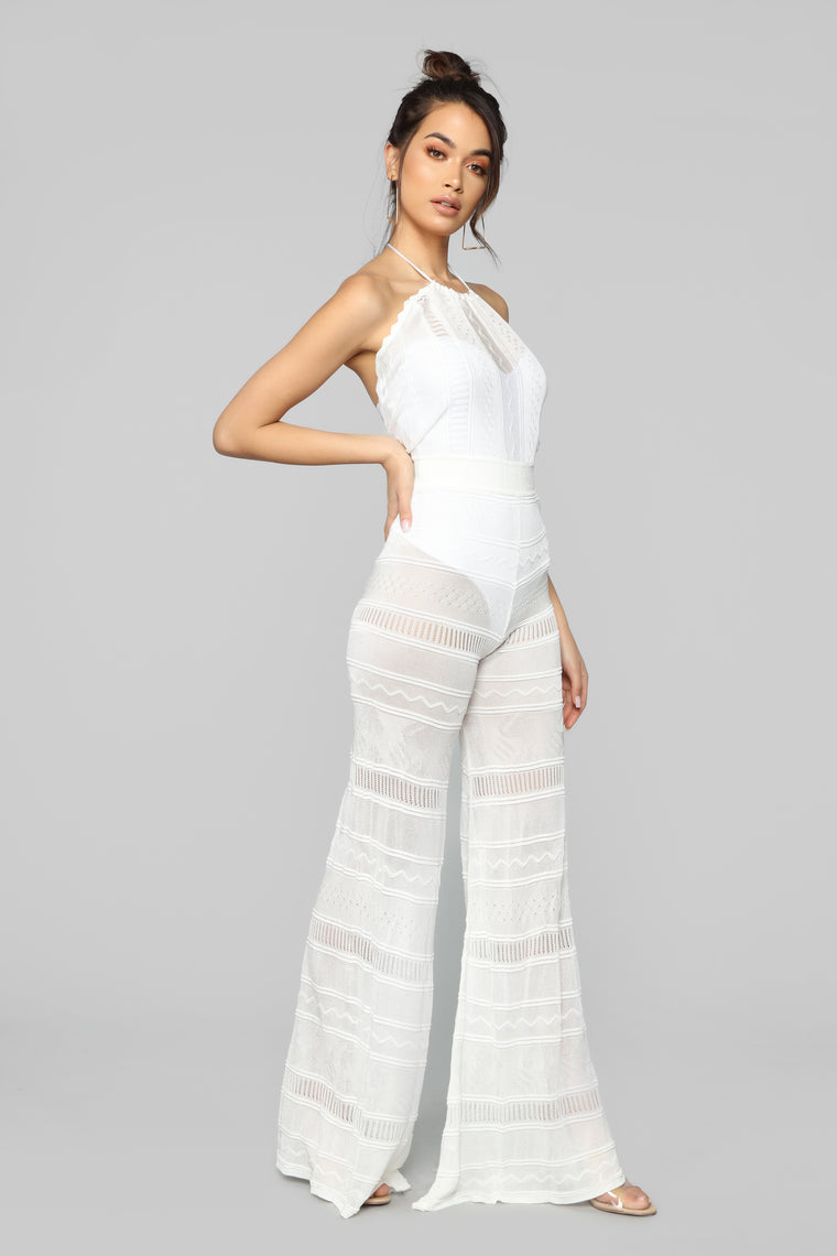 Bring On The Vibes Crochet Jumpsuit - White