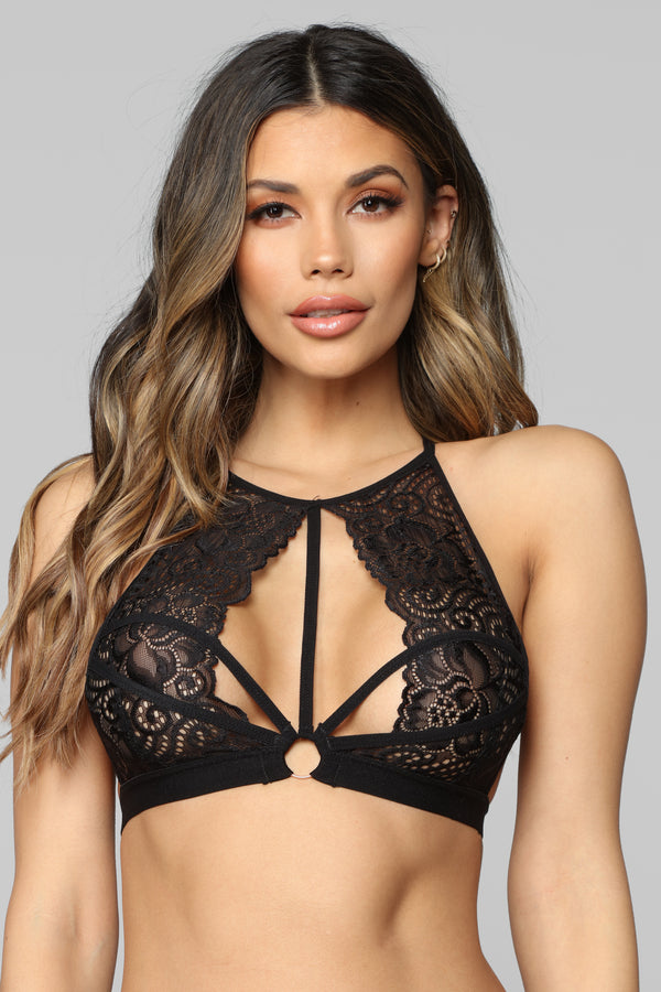 67a7a73c91b Next Level Lace Bralette - Black