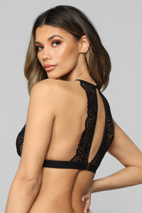 Next Level Lace Bralette - Black