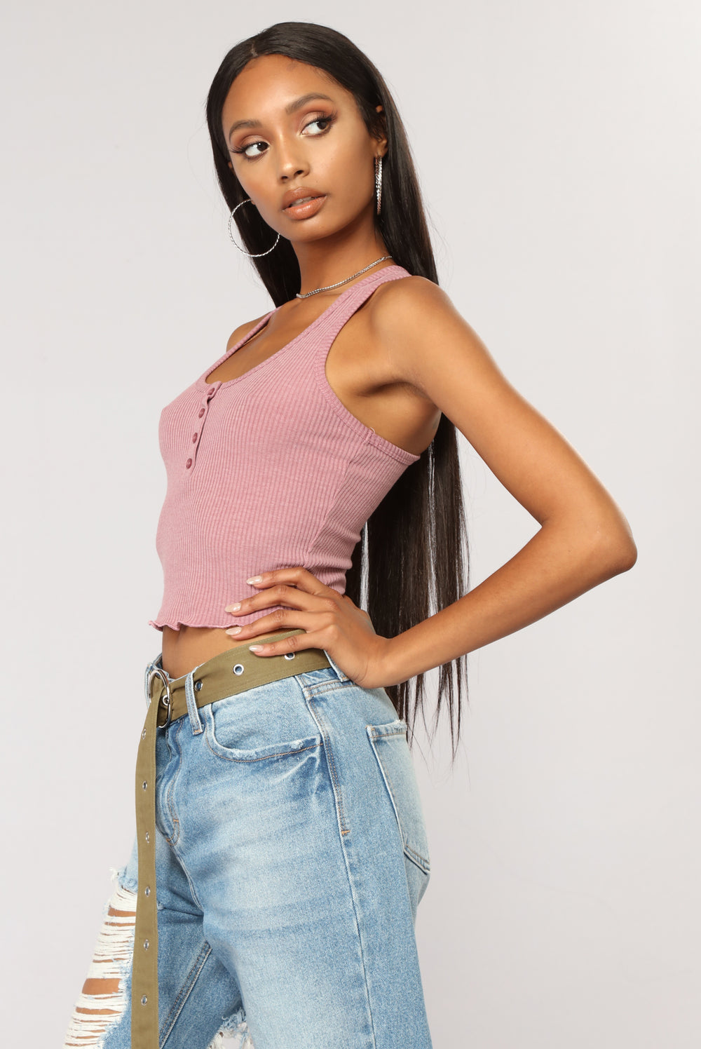 Jack Cropped Top - Lavender