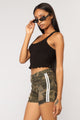 Sweet Times Cropped Tank - Black