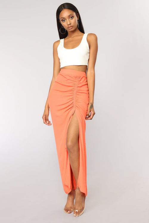 A Little Something Something Skirt - Orange