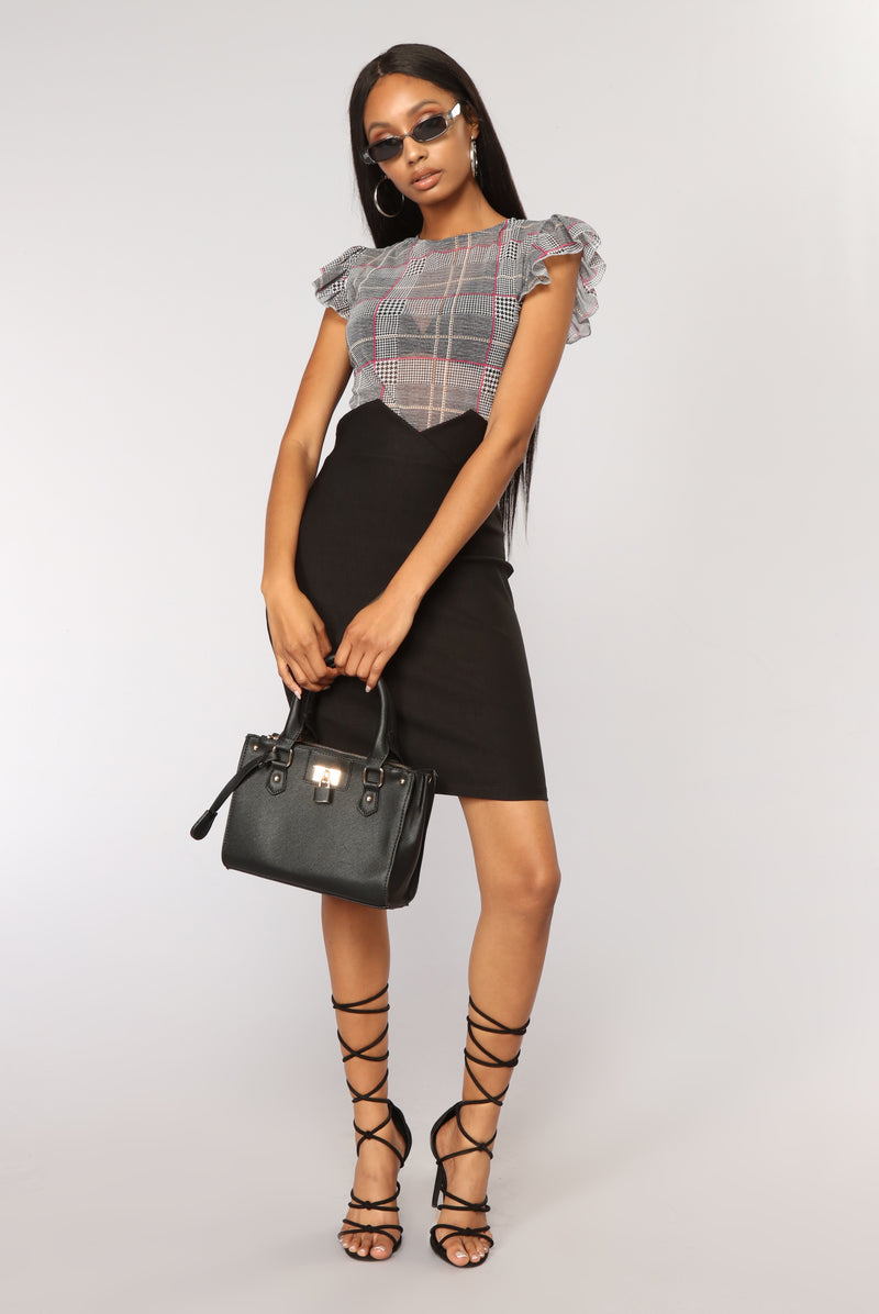 Classic Type Of Girl Skirt - Black