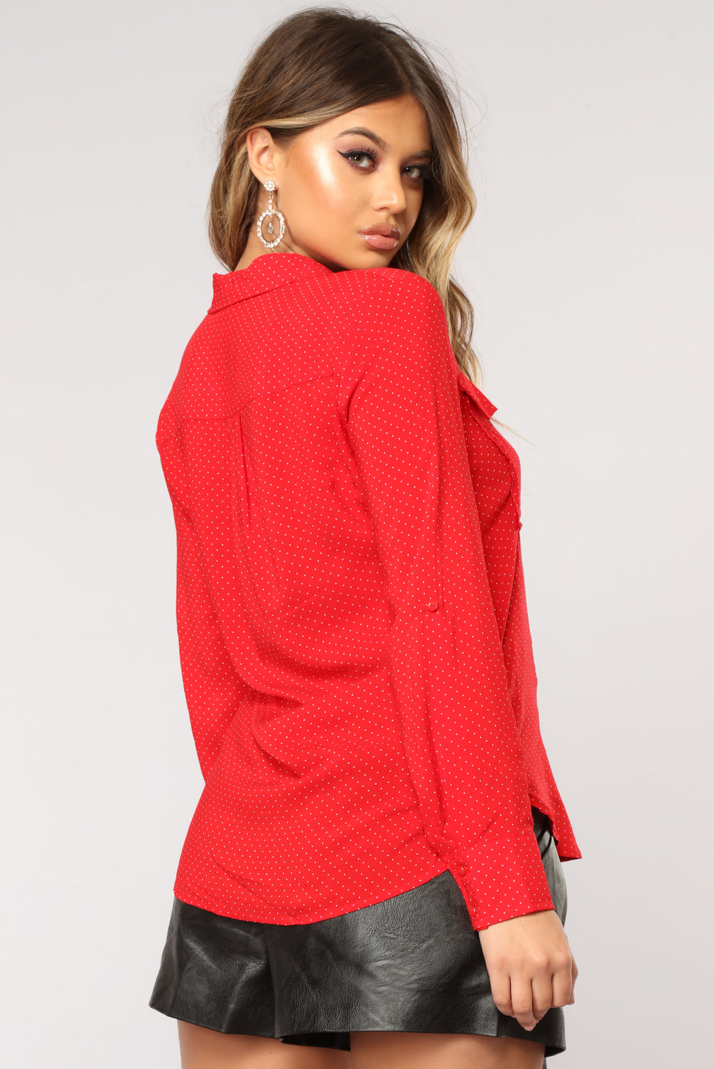 Lift Me Long Sleeve Top - Red