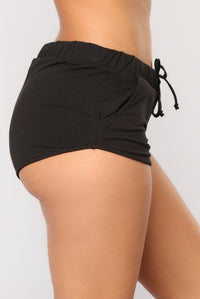 Just Chillin Dolphin Shorts - Black