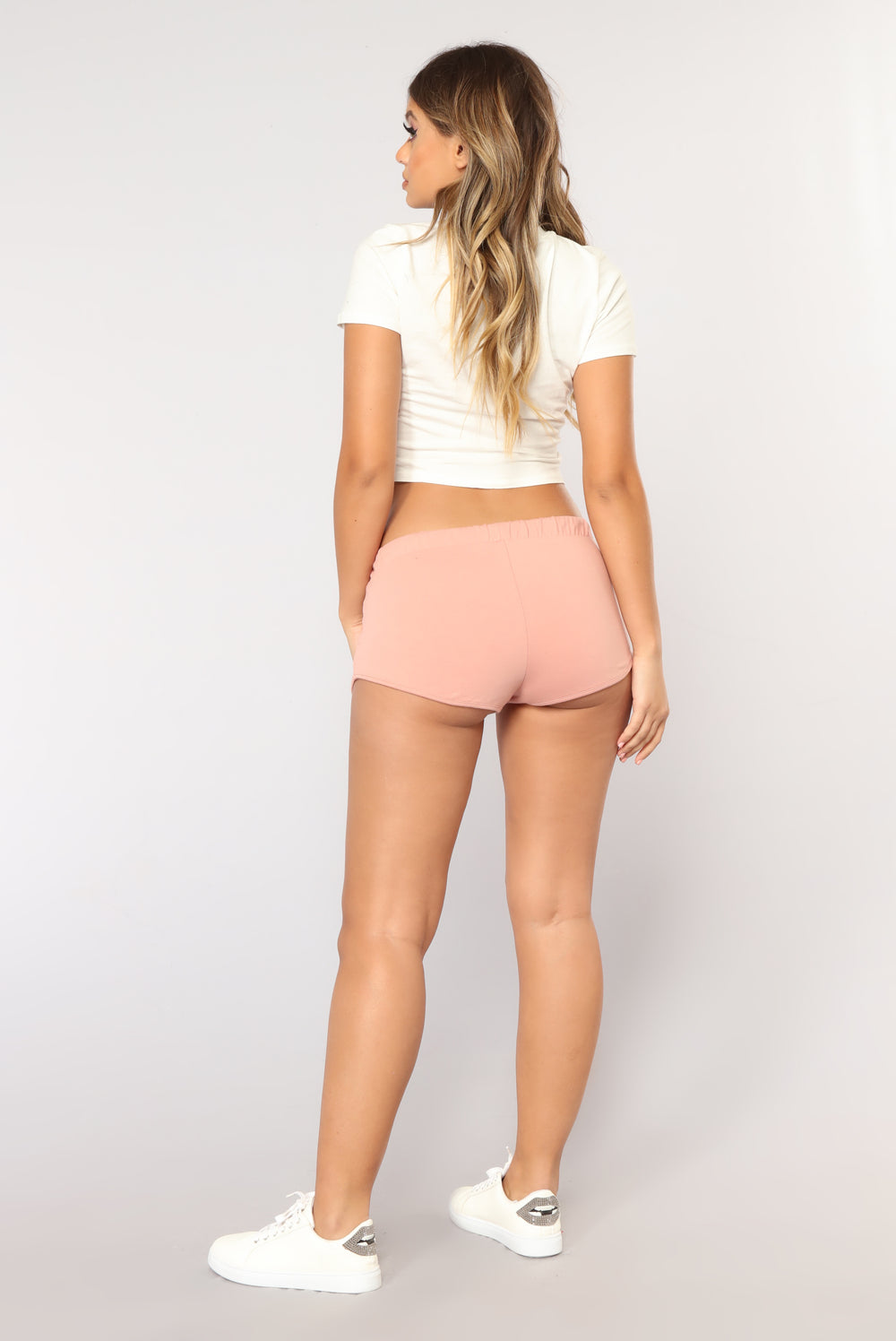 Just Chillin Dolphin Shorts - Mauve