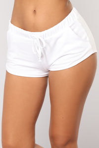 Just Chillin Dolphin Shorts - White Angle 1