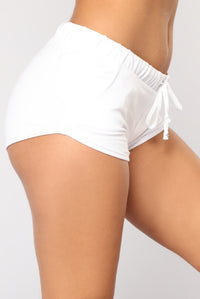 Just Chillin Dolphin Shorts - White Angle 3