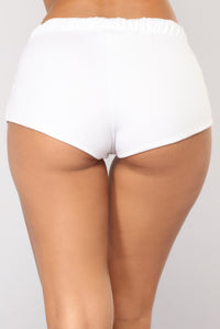 Just Chillin Dolphin Shorts - White Angle 6