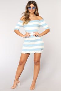 Girl Without Limits Striped Dress - Light Blue