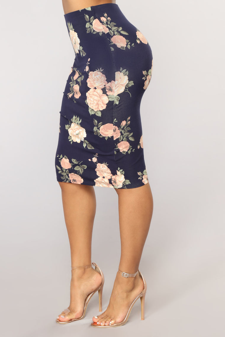 All The Right Places Skirt - Navy