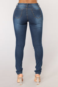 Kiss It Better Skinny Jeans - Dark Denim