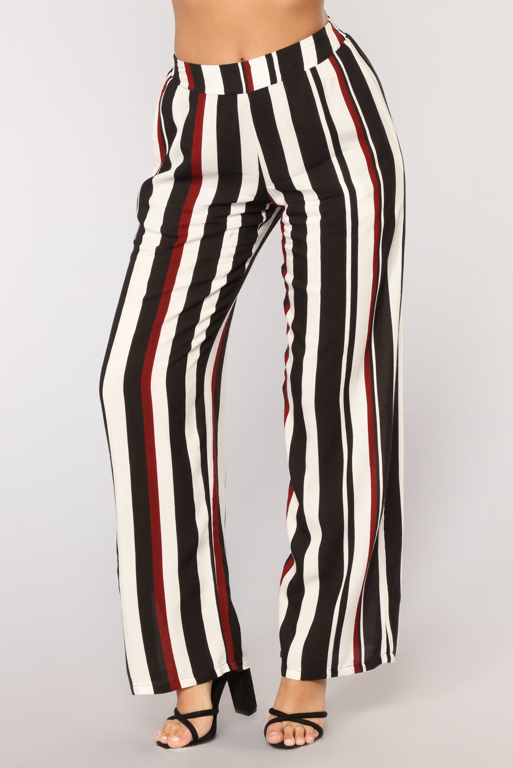 Shaney Stripe Pants - Black Multi
