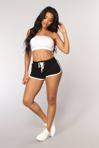 Run To You Dolphin Shorts - Black