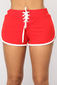 Run To You Dolphin Shorts - Red