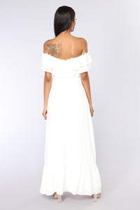She Knows Maxi Dress - Ivory