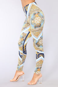 Vicenza Pant Set - Blue/Multi