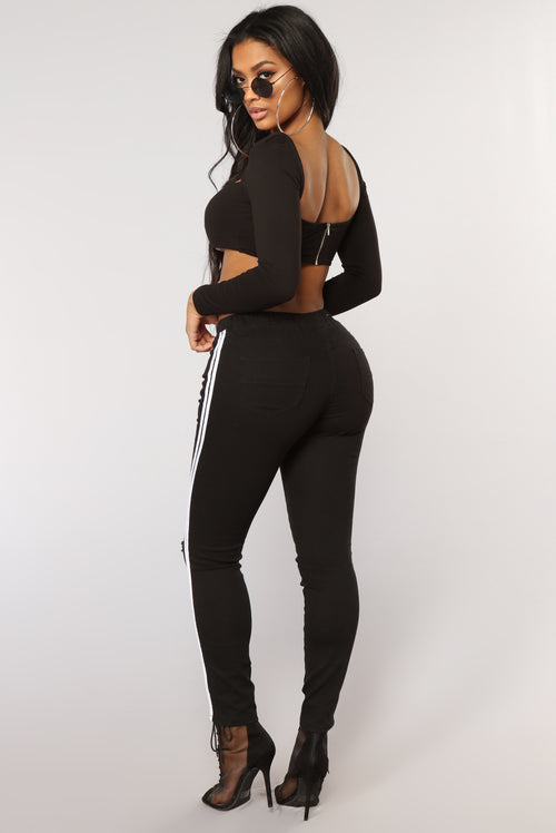 Spice Of Your Life Joggers - Black/White