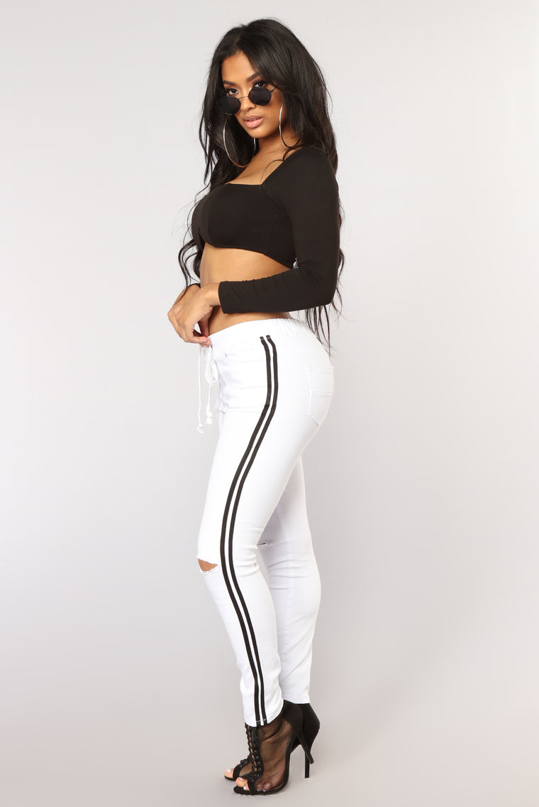 Spice Of Your Life Joggers - White/Black