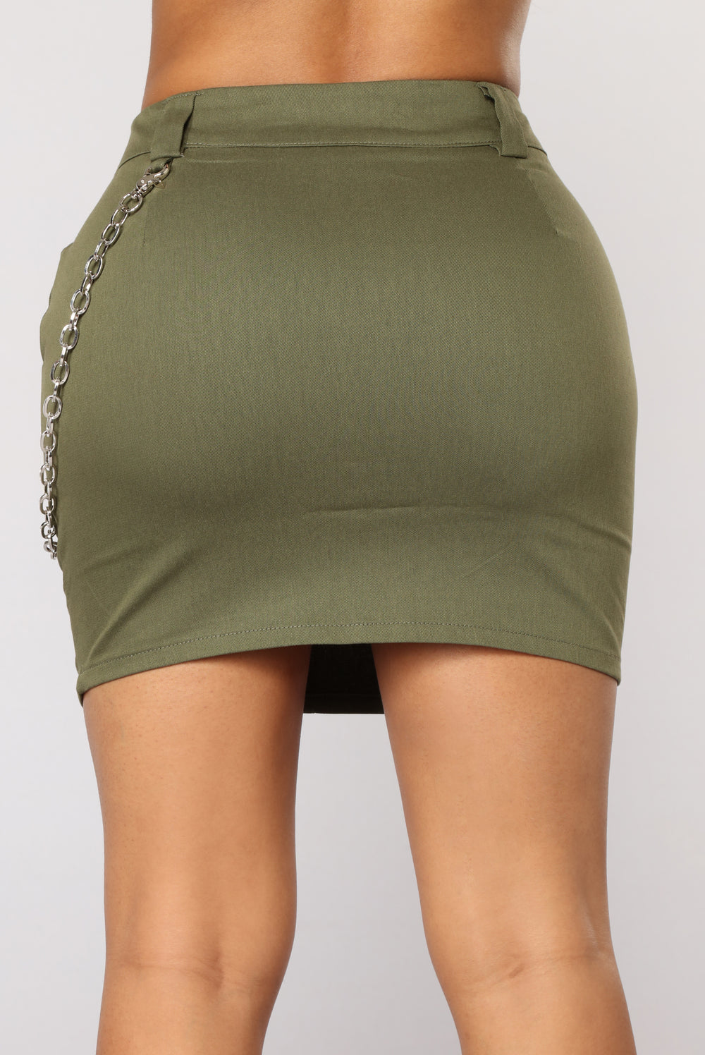 Leila Mini Skirt - Olive