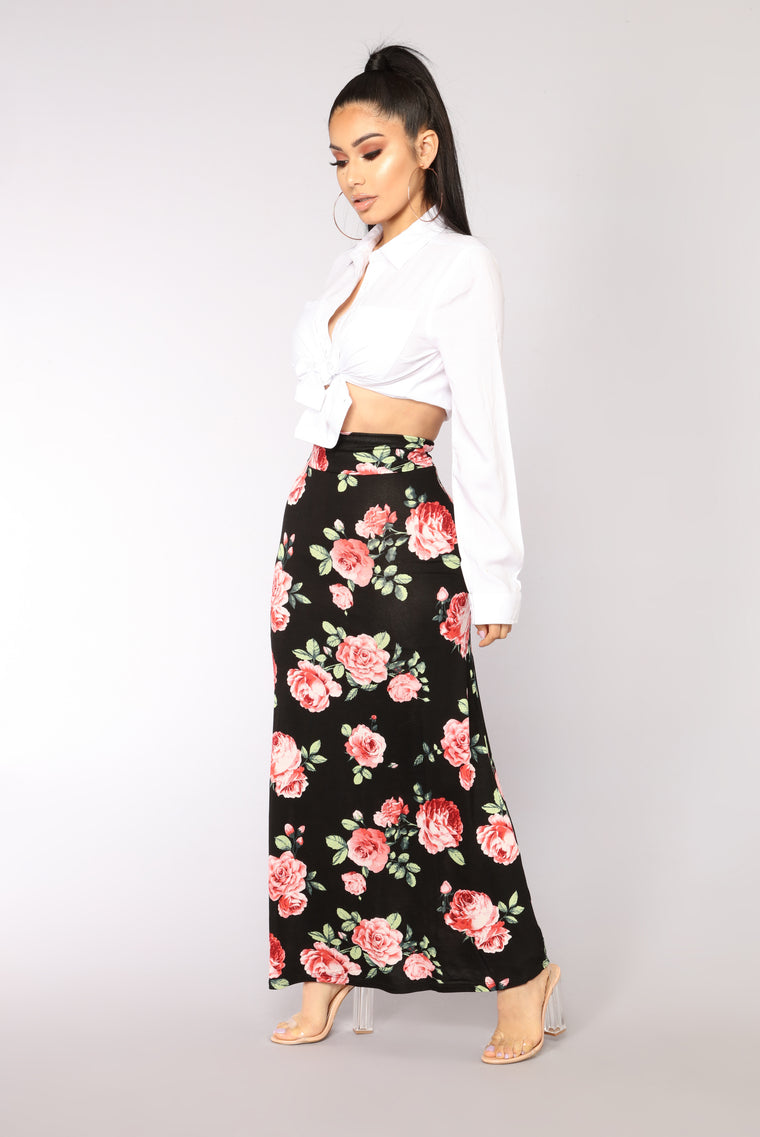 Perfect Occasion Maxi Skirt - Black