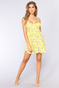 Stephie Floral Dress - Yellow