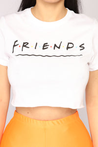 Friends Crop Top - White