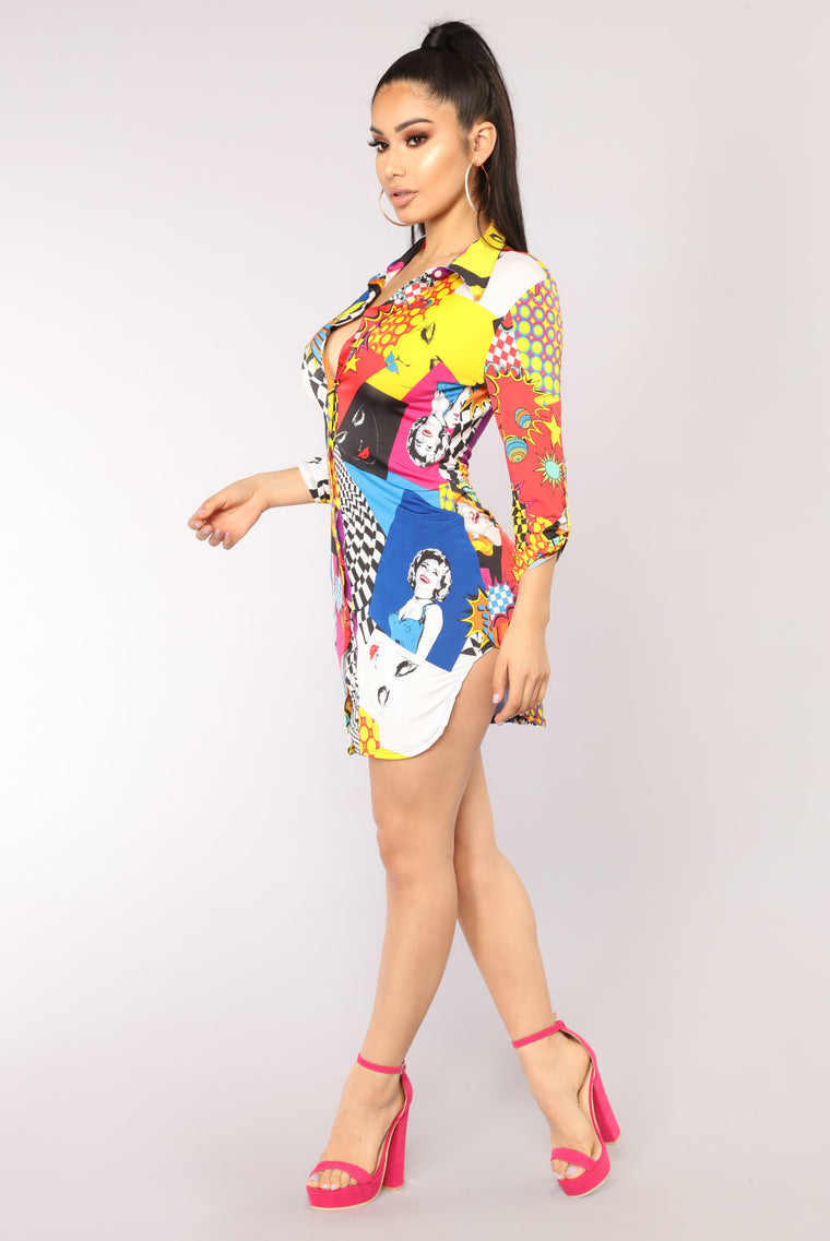 That Smile Tunic - Royal/Multi