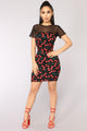Cherry Picking Dress - Black