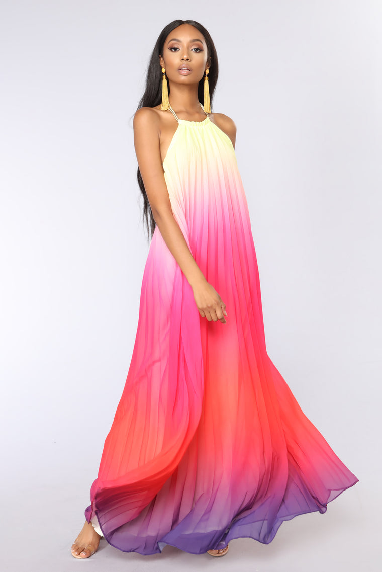 Sunset Ombre Dress - Multi