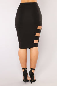 Side Piece Skirt - Black Angle 6