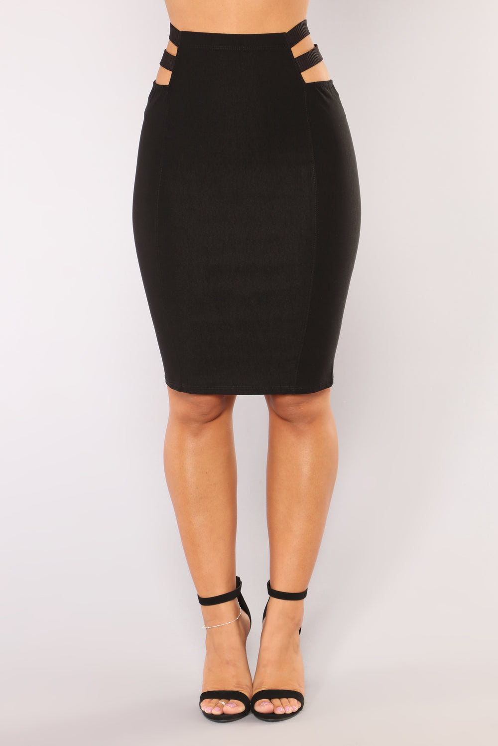 Cut It Out Skirt - Black