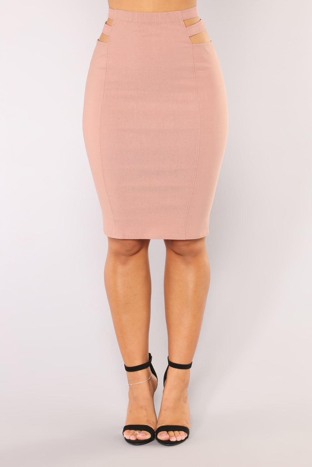 Cut It Out Skirt - Mauve