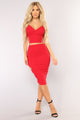 Side Piece Skirt - Red