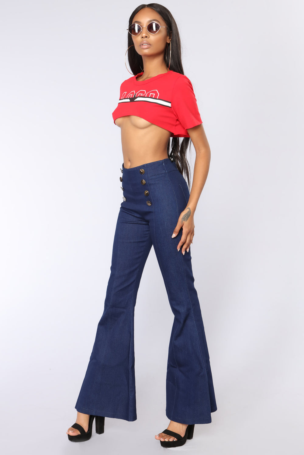 Year Of The Best Crop Top -  Red