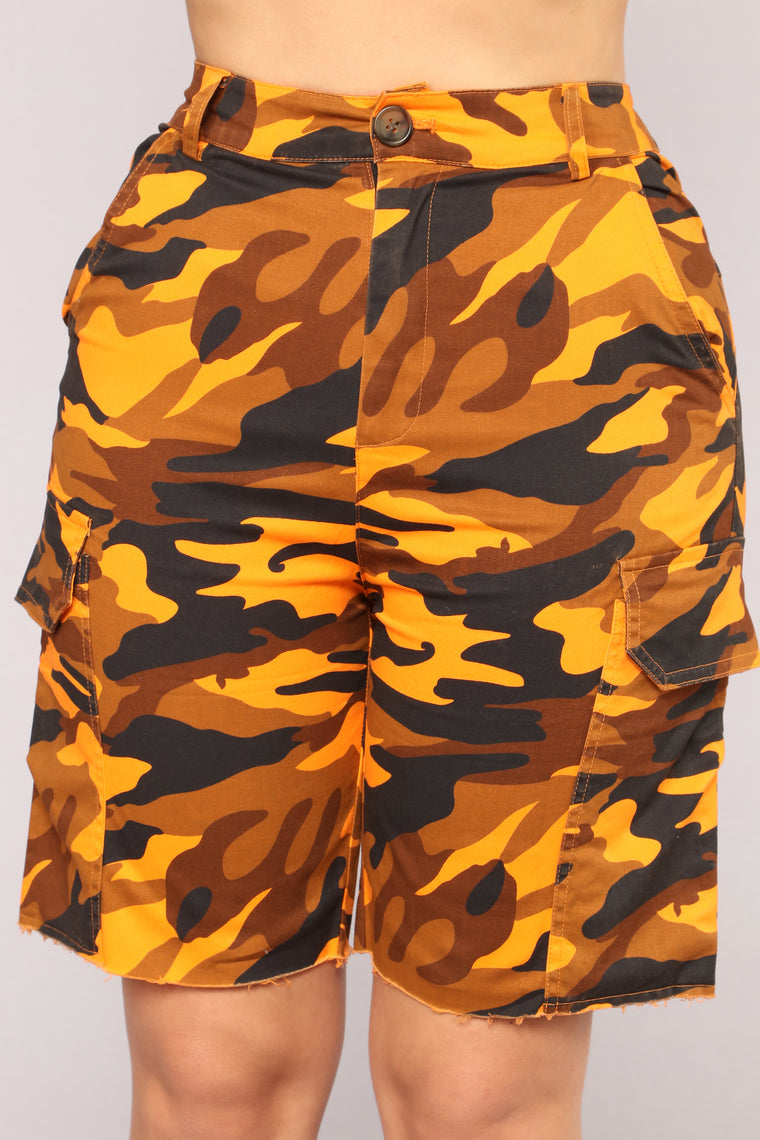Dina Cargo Shorts - Orange