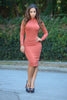 Donna Dress - Rust