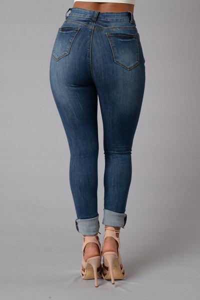 Crawford High Rise Jeans - Medium Wash