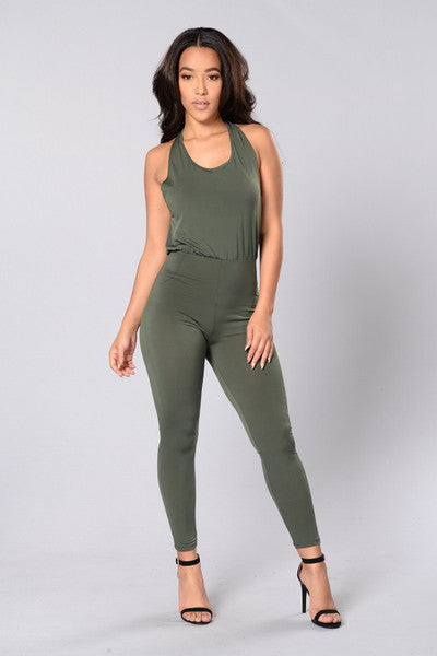 Power Player Jumpsuit - Olive