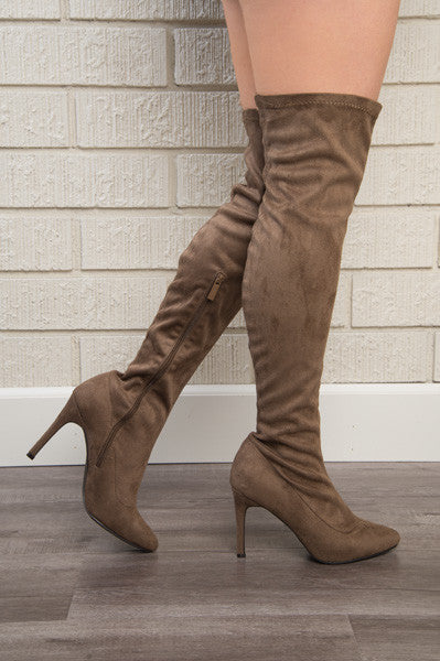 Run this Town Heel - Taupe